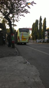 Busnya mogok di daerah Brebes, Jawa Tengah