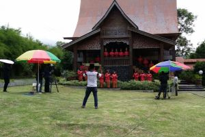 Proses pengambilan video Kambanglah Bungo
